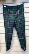 Lochcarron wool cloth Douglas tartan trousers, handmade in Scotland